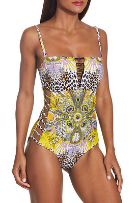 Milano bandeau one piece swimsuit