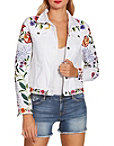 Colorful Embroidered Denim Jacket Photo