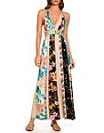 Halter Stripe Floral Maxi Dress Photo