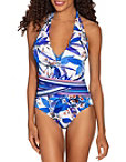 Ribbed Floral One Piece Swimsuit Photo