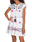 Smocked Embroidered Poplin Dress Photo