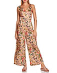 Tie Shoulder Floral Jumpsuit Photo