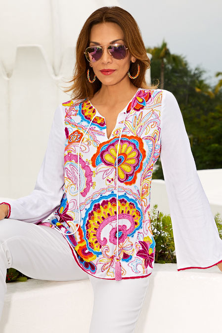 Tropical beaded top image