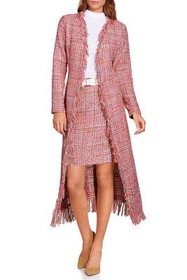 Tweed fringe duster