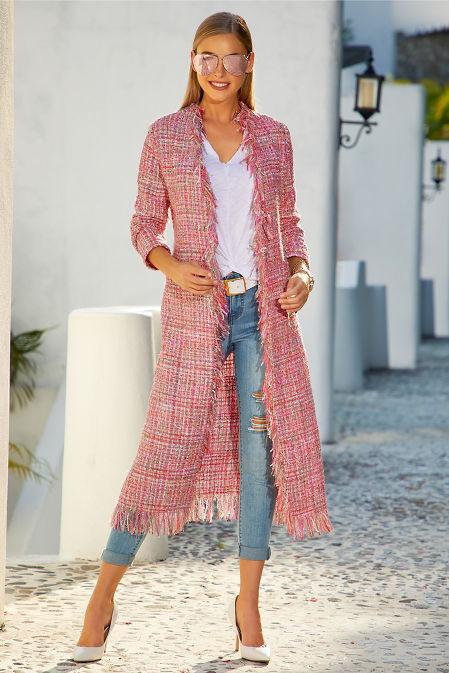 Tweed fringe duster image