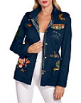 Embroidered Drawstring Utility Jacket Photo