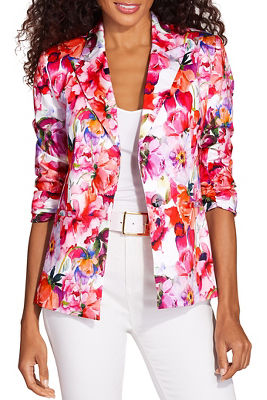 Display product reviews for Floral blooms blazer