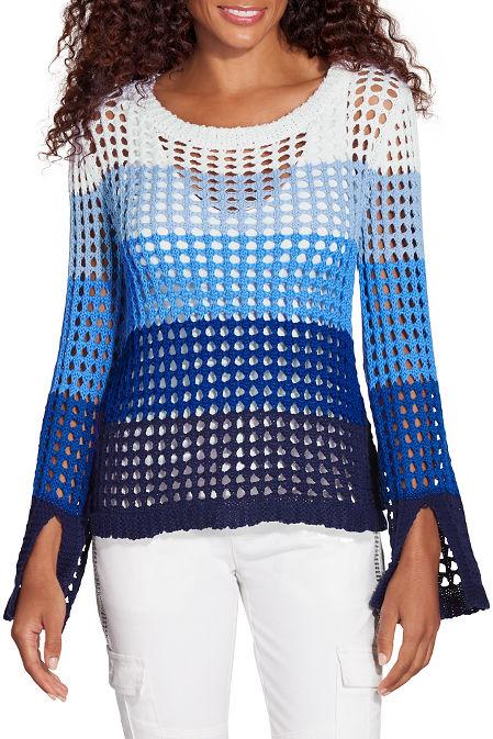 Multi ombré stripe sweater image