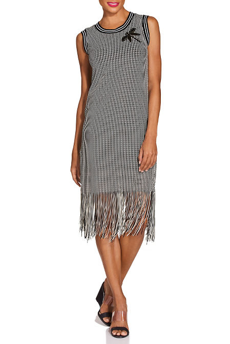 Patch fringe sport dress image