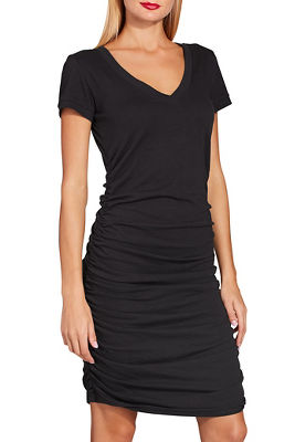 Display product reviews for Ruched t-shirt dress