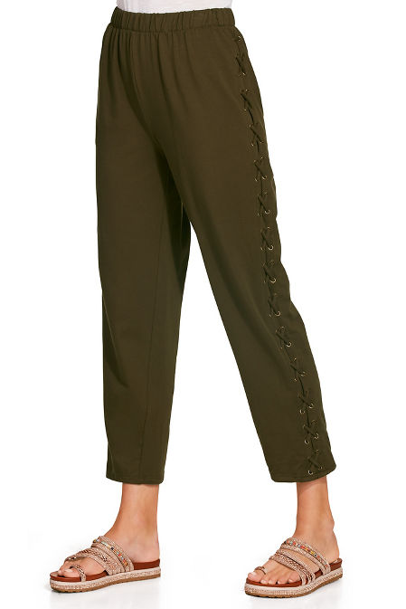 Side lace up sport pant image