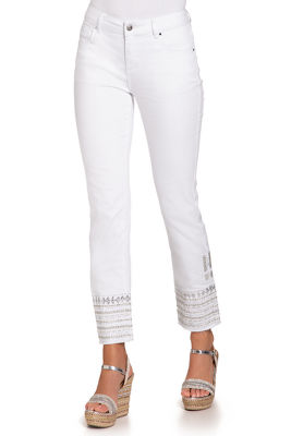 Display product reviews for Silver embellished ankle jean