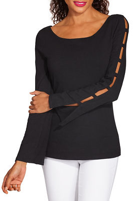 Display product reviews for So Sexy™ sleeve detail top
