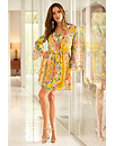 Surplice Paisley Blouson Dress Photo
