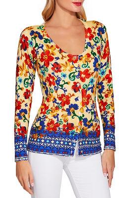 Sunshine scroll print sweater