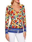 Sunshine Scroll Print Sweater Photo