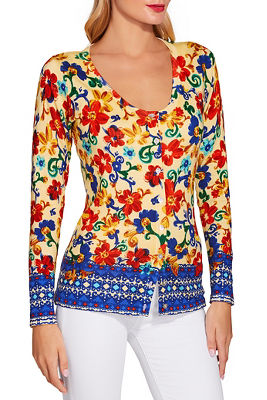 Sunshine scroll print sweater
