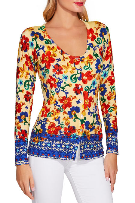 Sunshine scroll print sweater image