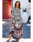 Border Tie Dye Maxi Skirt Photo