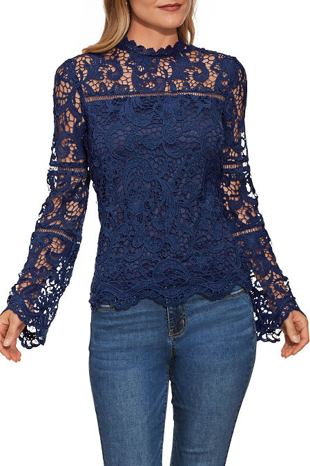 Illusion lace top image