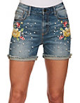 Lotus Embroidered Short Photo