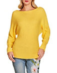 Slouchy Boat Neck Long Sleeve Sweater Photo