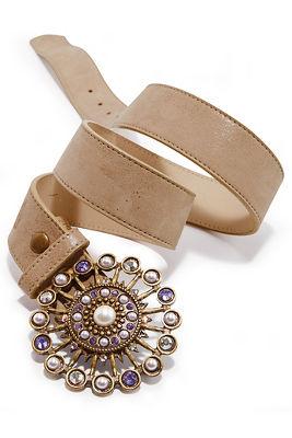Amethyst buckle belt