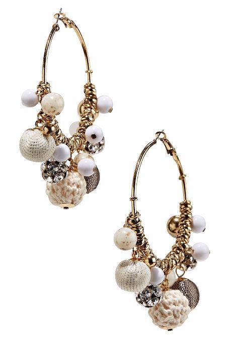 Bauble hoop earrings image