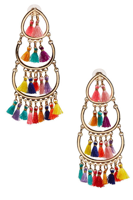 Multicolor tassel earrings image