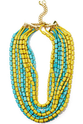 tube beaded necklace