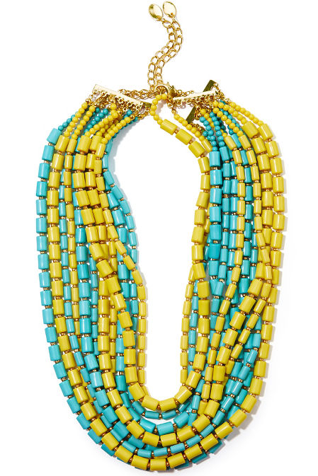 Tube beaded necklace image