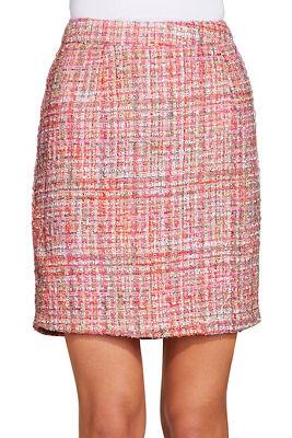 tweed back zip skirt
