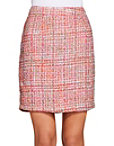 Tweed Back Zip Skirt Photo