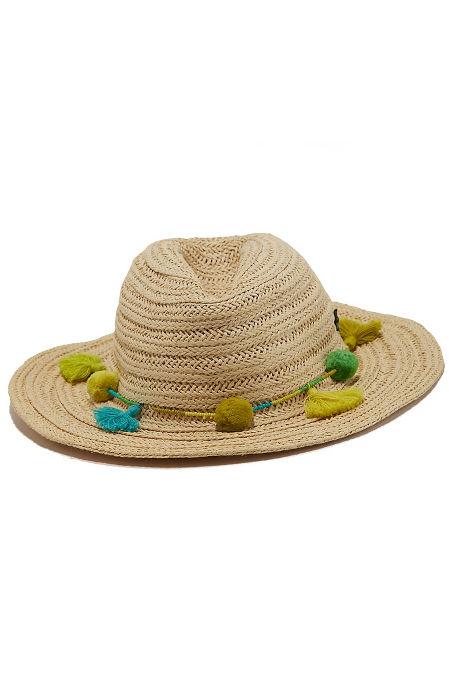 Beaded tassel beach hat image