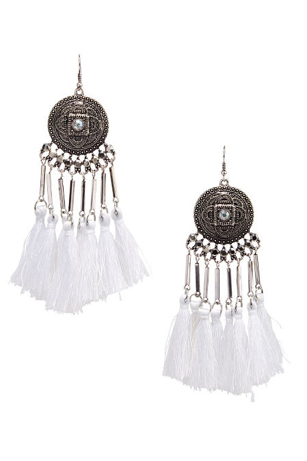 Metal fringe earrings image
