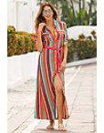 Rainbow Stripe Shirtdress Photo