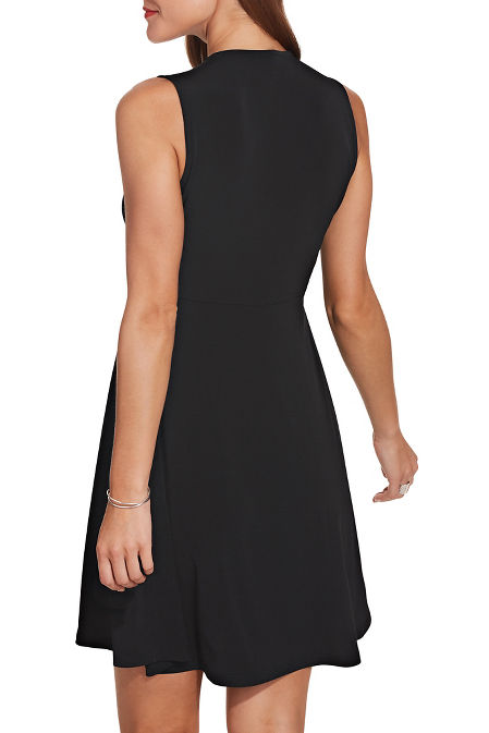 Flirty knot front dress image