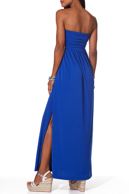 Ruched maxi dress image