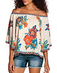 Bright Floral Off The Shoulder Top Photo