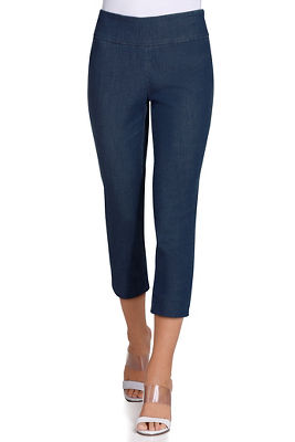 Everyday side zip denim capri pant