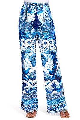 blue wave palazzo pant