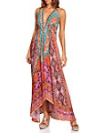 Embellished Python Border Maxi Dress Photo