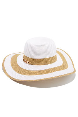 metallic detail floppy hat