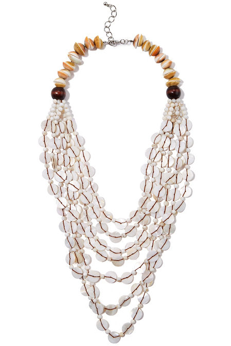 Shell layered necklace image