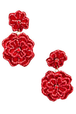 3d floral drop earrings
