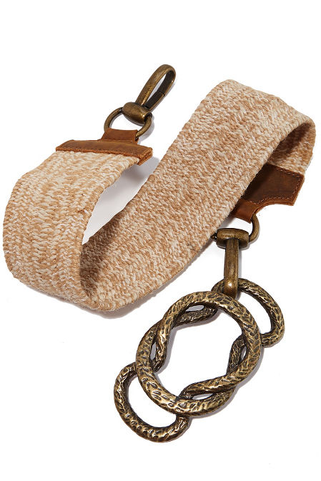 Braided chain buckle belt image