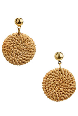 woven circle earrings