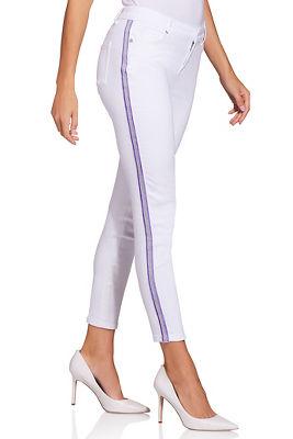 Lavender racer stripe ankle jean