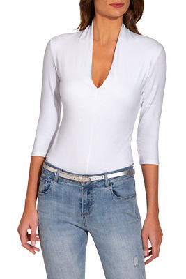 Display product reviews for So Sexy™ v neck three quarter sleeve top