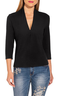 So Sexy™ v neck three quarter sleeve top